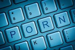 Pornografía del teclado Imágenes de archivo libres de regalías