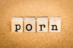 Pornografia - concetti del bollo di alfabeto Immagine Stock Libera da Diritti