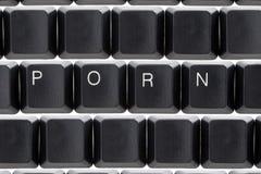 Pornografia in linea di cyber del Internet Fotografia Stock