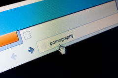 Pornography website Stock Photography