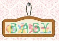 Porodu zawiadomienia rama Zdjęcia Royalty Free