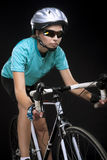 Porofessional female bike athlete Royalty Free Stock Images