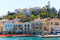 Poros ö - Grekland arkivbild