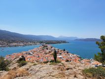 Poros ö - Grekland royaltyfri fotografi