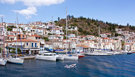 poros νησιών της Ελλάδας Στοκ Φωτογραφία