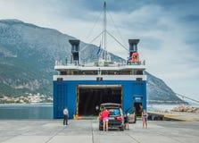 Poros Bay Ionian Islands Royalty Free Stock Image