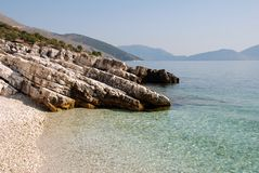 Poros Beach Royalty Free Stock Photo