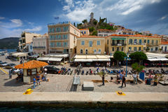 Poros island. Royalty Free Stock Photos