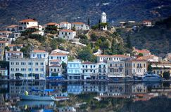 POROS ISLAND-GREECE-MAGICAL REFLECTION royalty free stock images