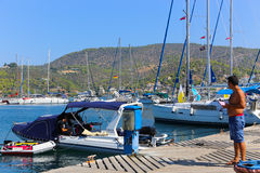 Poros island Stock Photos