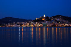 Poros at night Royalty Free Stock Images