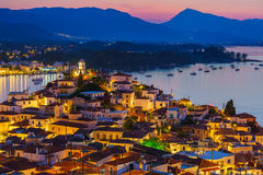 Poros at night, Greece Stock Image