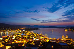 Poros at night Royalty Free Stock Image