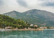 Poros Podpalane Ionian wyspy Obrazy Royalty Free