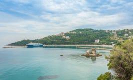 Poros Podpalane Ionian wyspy Zdjęcia Stock