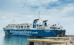 Poros Podpalane Ionian wyspy Fotografia Royalty Free