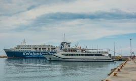 Poros Podpalane Ionian wyspy Obraz Stock