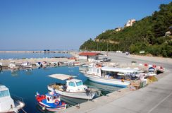 Poros Port Stock Photo