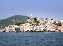 Poros waterfront Stock Images