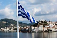 Poros wyspa, Grecja Zdjęcia Royalty Free