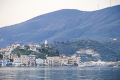 Poroseiland, Griekenland stock afbeeldingen