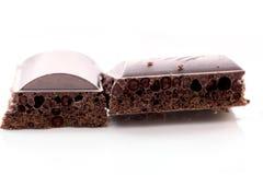 Porous black chocolate Royalty Free Stock Photo