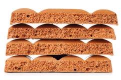 Porous chocolate bars Stock Image