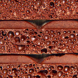 Porous chocolate pieces. Stock Images