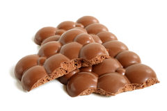 Porous chocolate pieces Royalty Free Stock Image