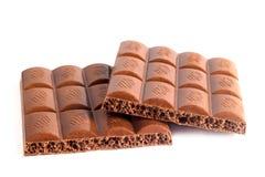 Porous chocolate tile broken Royalty Free Stock Images