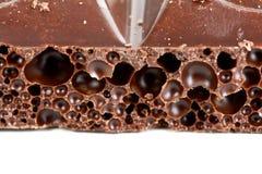 Porous dark chocolate Royalty Free Stock Photo