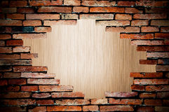 Porous on grunge wall see metal background Stock Photo