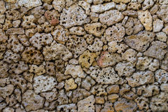 Porous pumice stones wall Stock Photo