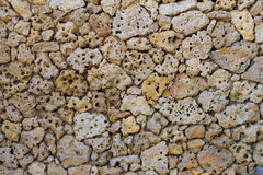 Porous pumice stones wall Royalty Free Stock Photos