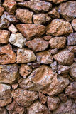 Porous pumice stones wall Stock Images