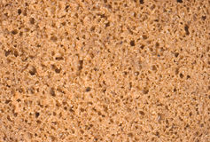 Porous texture of brown bread, cut coarsely Royalty Free Stock Photos