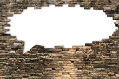 Porous wall for speech bubble background royalty free stock image
