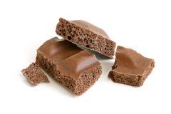 porowaci czekoladowi kawałki Zdjęcie Royalty Free