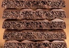 Porowaty czekoladowy zbliżenie Fotografia Stock