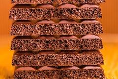 Porowaty czekoladowy zbliżenie Zdjęcie Royalty Free