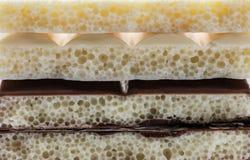 Porowaty czekoladowy zbliżenie Fotografia Royalty Free