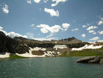 Porphory Basin. Summertime scene from the normally frozen Porphory Basin area near Silverton, Colorado stock image