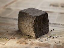 Porphyr, Steinplasterung, benannt auf italienisch Stockfotografie