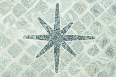 Porphyry compass floor decoration Royalty Free Stock Photography