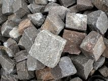 Porphyry cubes. On the floor of the platform used in countries Trentino royalty free stock photography