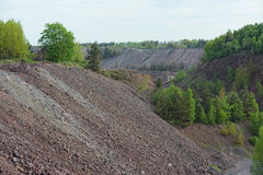 Porphyry open pit mine Royalty Free Stock Image