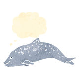 Porpoise retro illustration Royalty Free Stock Images