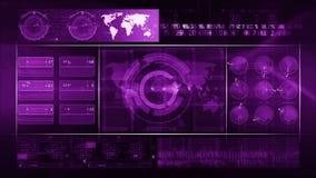 Porpora astratta del CICLO del fondo di tecnologia archivi video
