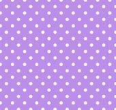 Porpora con i puntini di Polka bianchi Immagini Stock