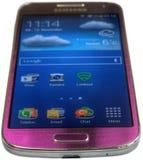 Porpora della galassia S4 di Samsung mini Fotografia Stock Libera da Diritti